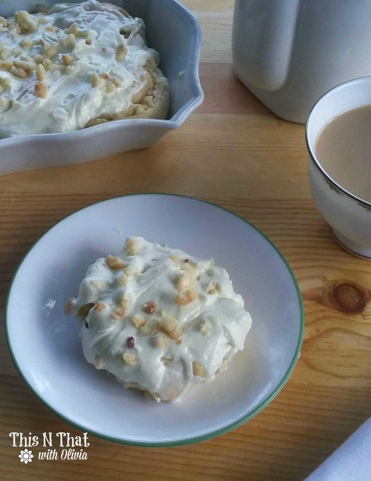 White Chocolate Macadamia Nut Sweet Rolls