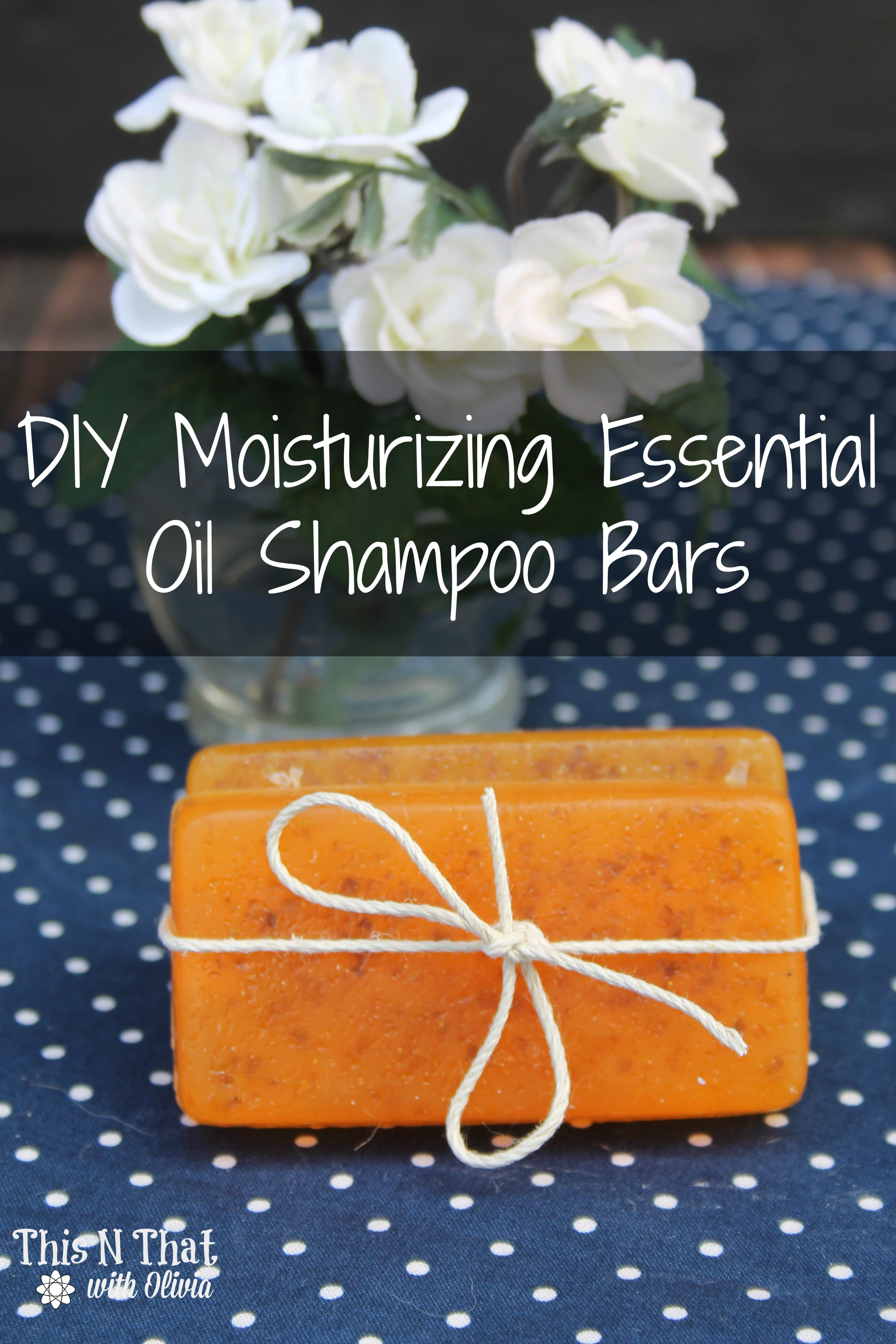 DIY Moisturizing Essential Oil Shampoo Bar