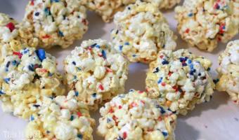 Patriotic Popcorn Balls Recipe + Tutorial