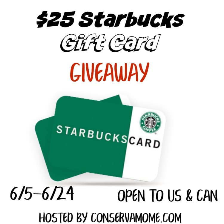 Enter to Win a $25 Starbucks Gift Card! (Ends 6/24)