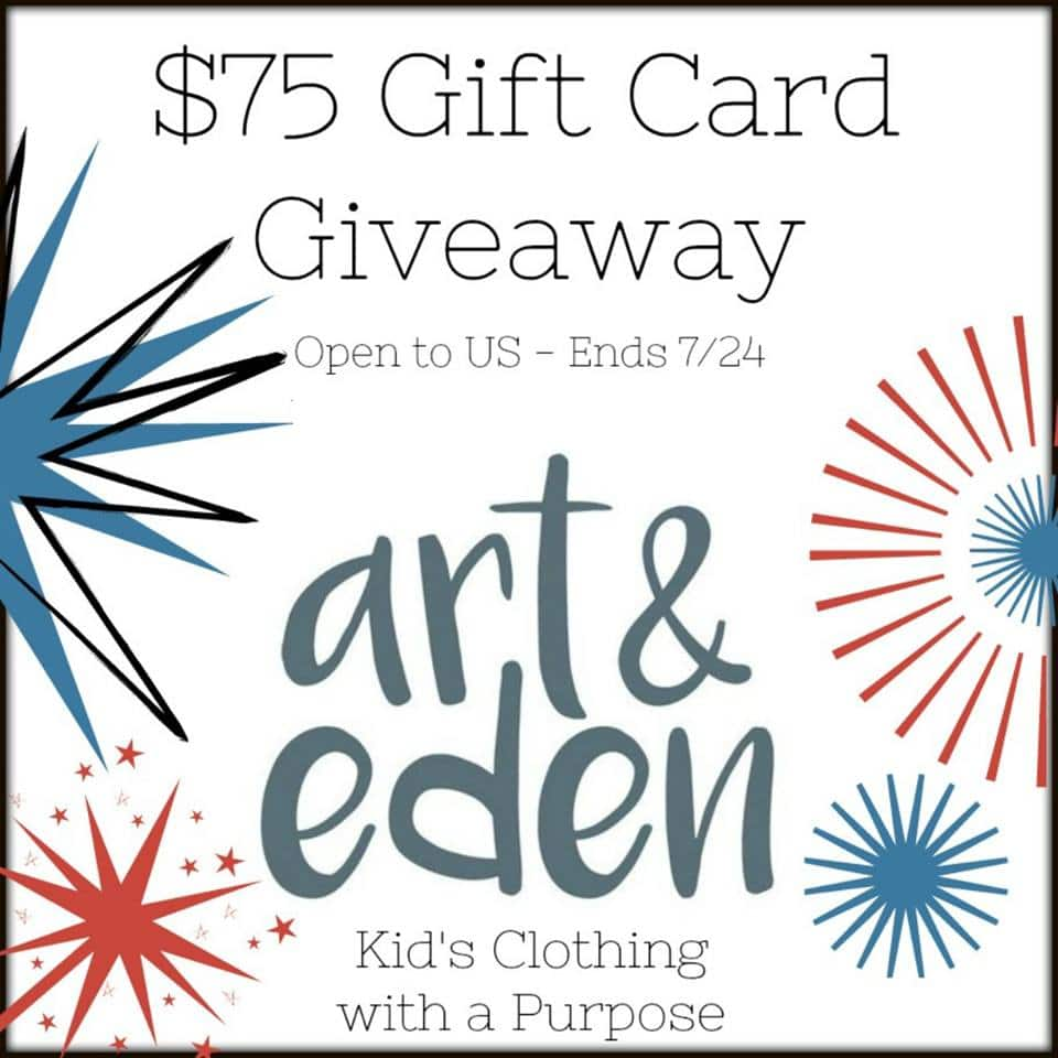 art & eden $75 Gift Card Giveaway (Ends 7/24)