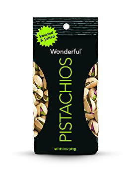 Wonderful Pistachios, Roasted and Salted, 8 Ounce Bags (Pack of 5)
