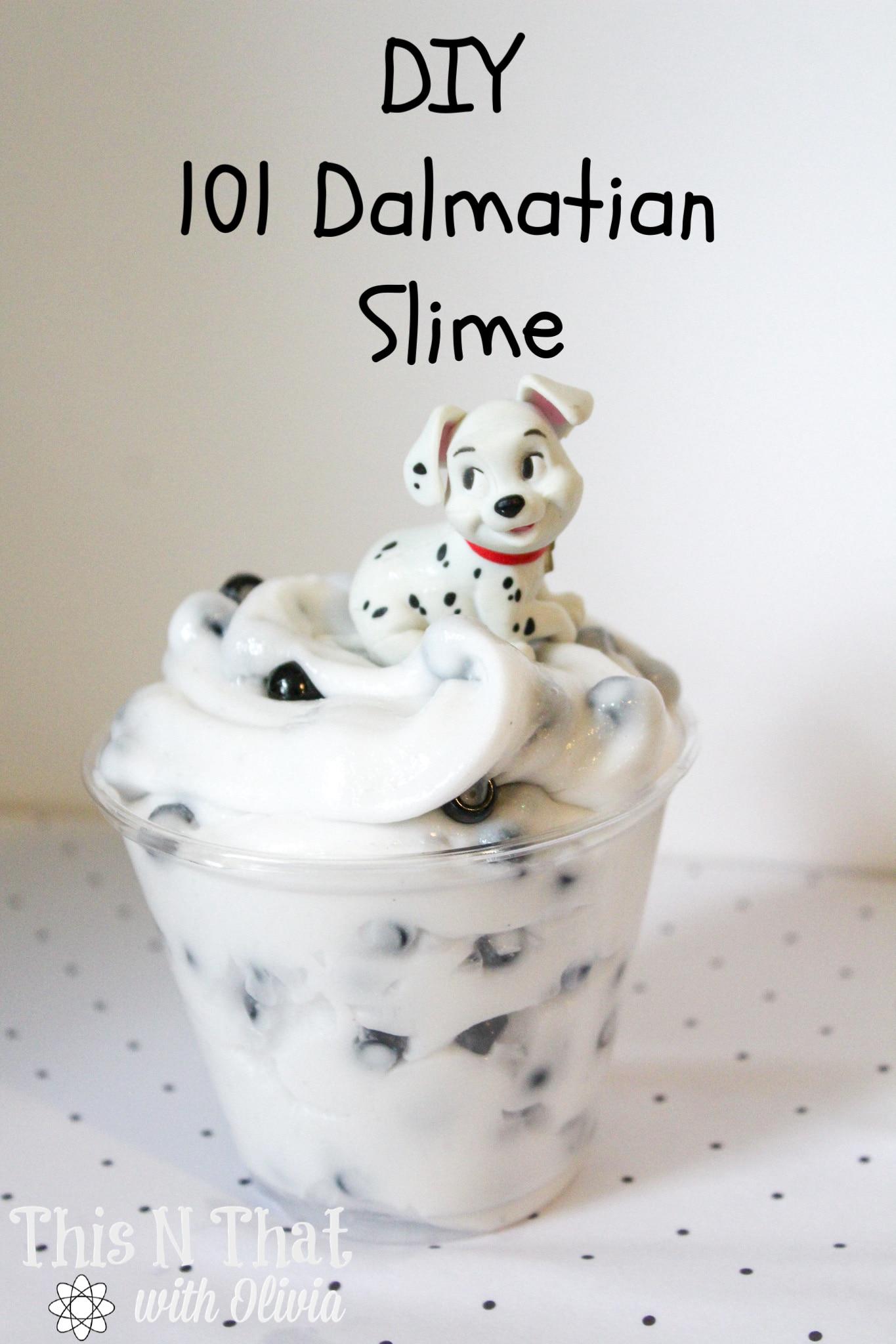 DIY 101 Dalmatian Slime Tutorial