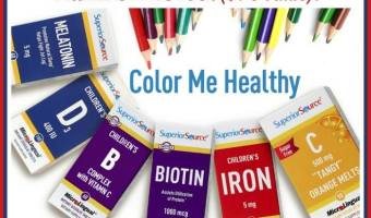 Win a 'Color Me Healthy' Superior Source Vitamins Prize Pack (Ends 8.25)