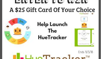 Enter to Win a $25 Gift Card from HueTracker! (Ends 9/3)