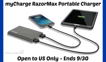 myCharge RazorMax Portable Charger Giveaway (Ends 9/30)