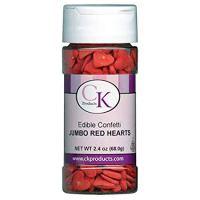 Confetti Jumbo Red Hearts 2.8 oz. CONJRH