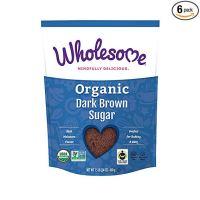 Wholesome Organic Dark Brown Sugar, Fair Trade, Non GMO, 1.5 LB (Pack of 6)