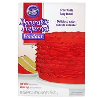 Wilton Decorator Preferred Red Fondant, 24 oz. Fondant Icing