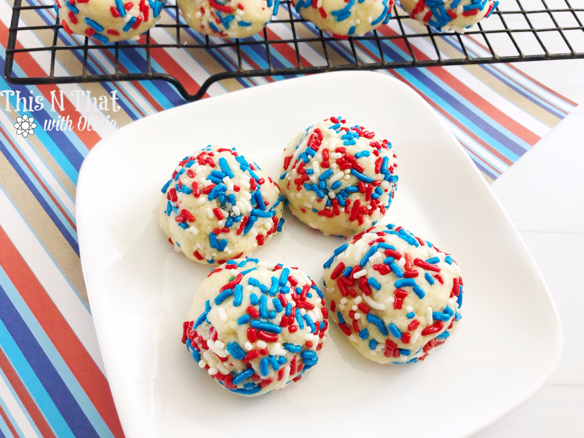 Easy and Delicious 4th of July cookies that are puffy and perfect for your next cookout or gathering!