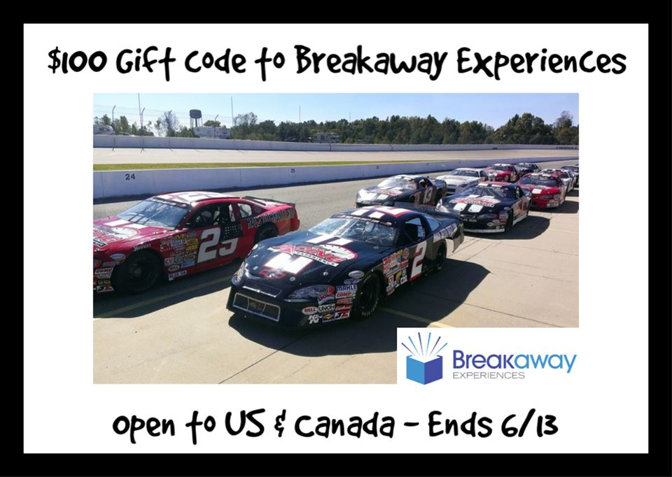 Win a $100 Gift Code to Breakaway Experiences (Ends 6/13)