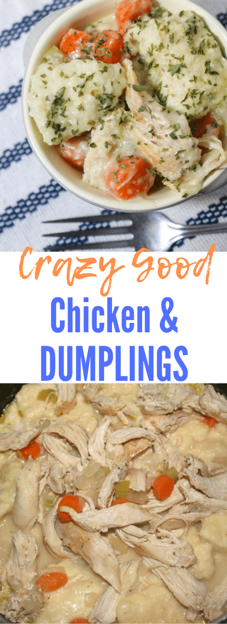 Chicken and Dumplings is comfort food at its finest. This super easy dinner is crazy good and perfect for the fall.