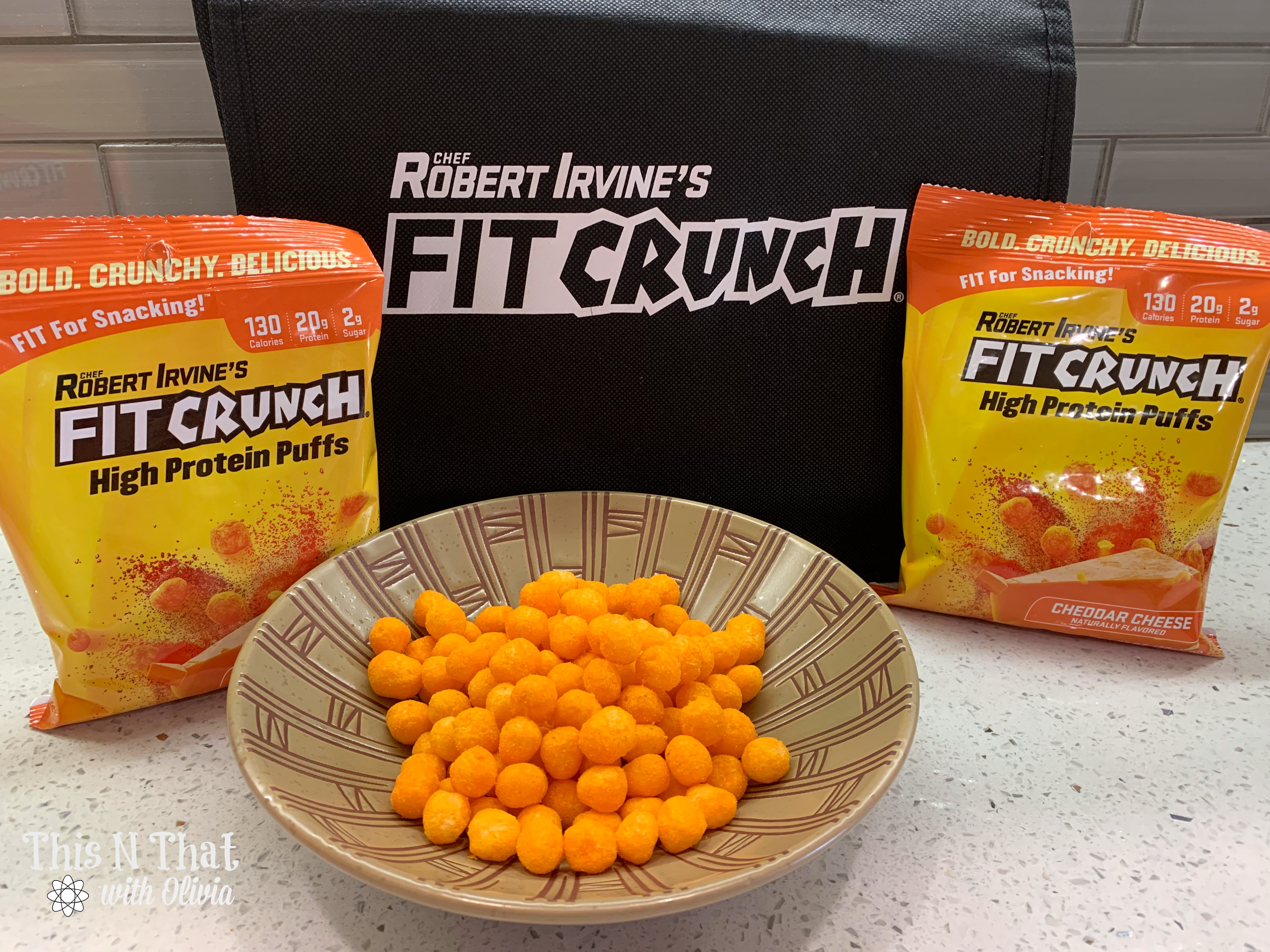 Snack Better with FITCRUNCH® Cheddar Cheese High Protein Puffs