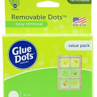 Glue Dots Removable Dots Value Pack Sheets, 1/2 Inch, Clear, Pack of 600