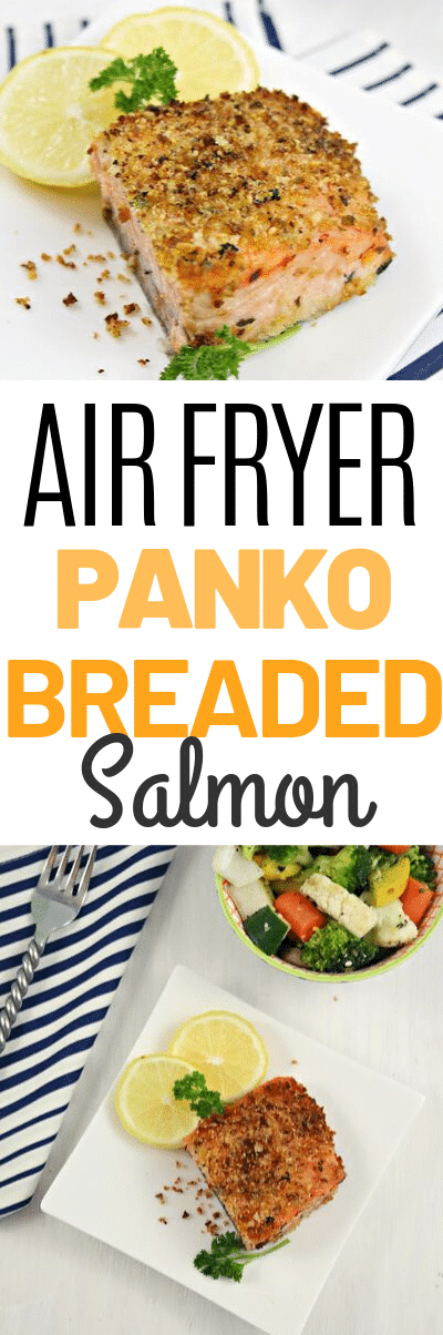Salmon is a GREAT source of protein and a delicious dinner idea! Making it in the air fryer is easier than you may think and SUPER tender and juicy.