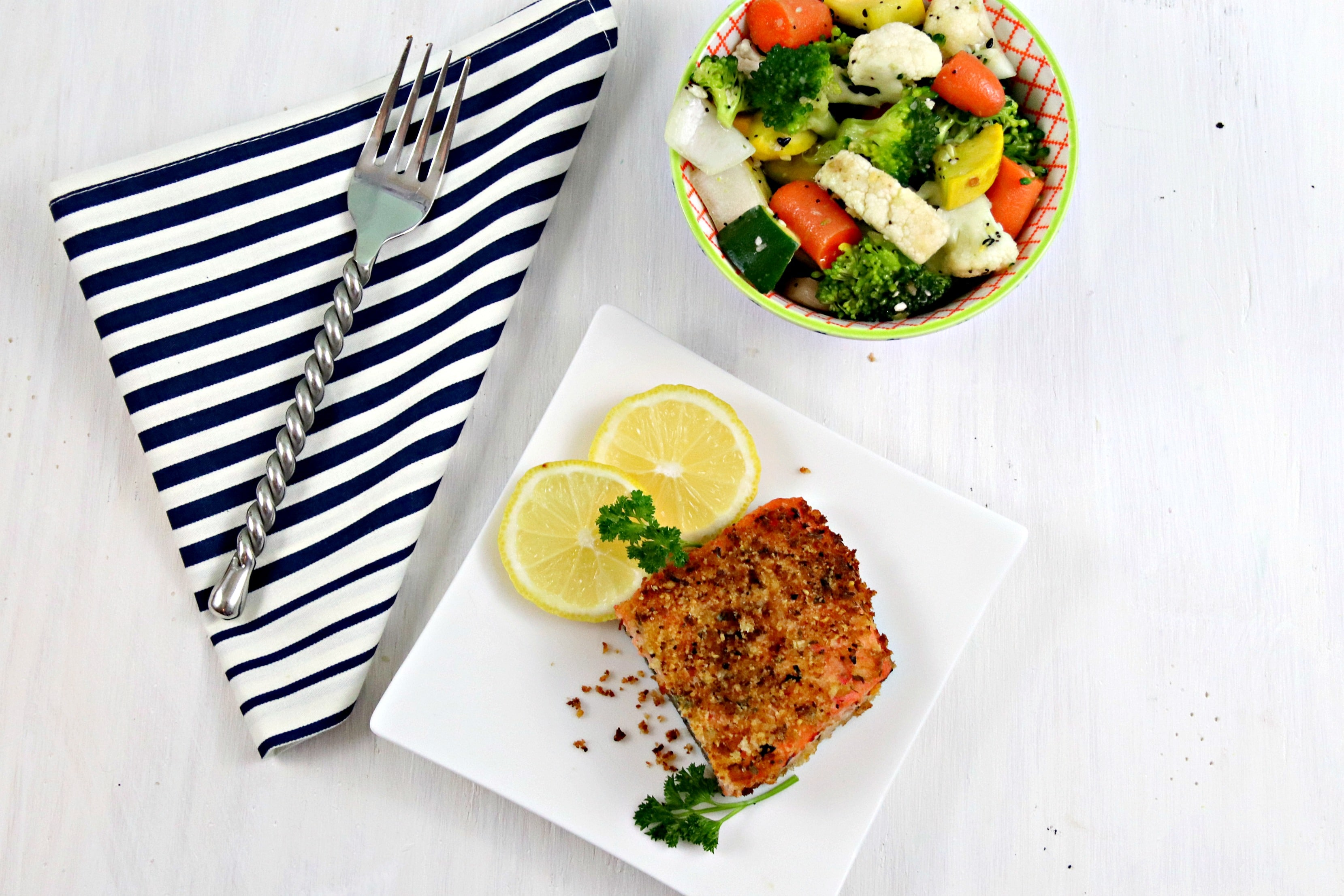 Air Fryer Panko Breaded Salmon