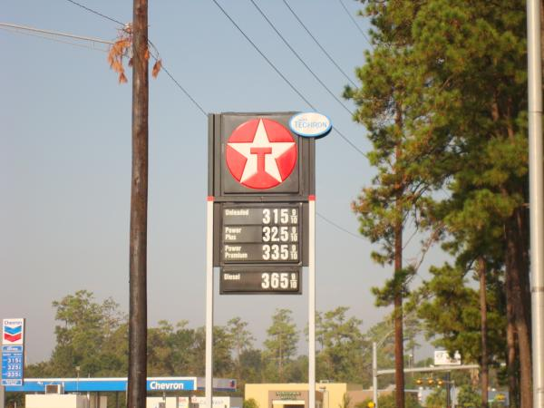 Gas sign