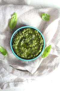 This Vegan Cashew Pesto is simple and delicious. Perfect on a wrap or sandwich! | ThisSavoryVegan.com