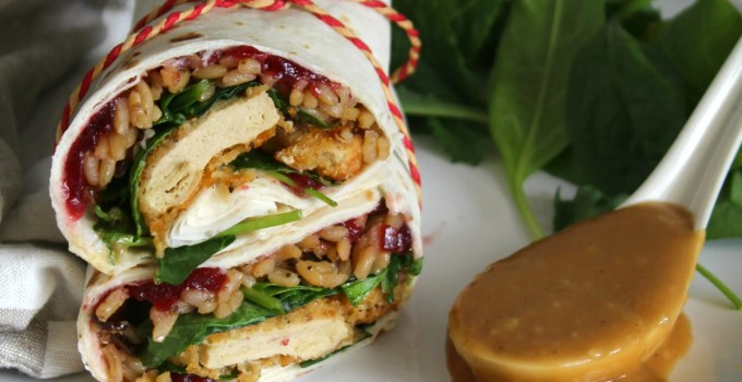 Enjoy holiday meal flavors any time with these Vegan Thanksgiving Leftover Wraps   ThisSavoryVegan.com