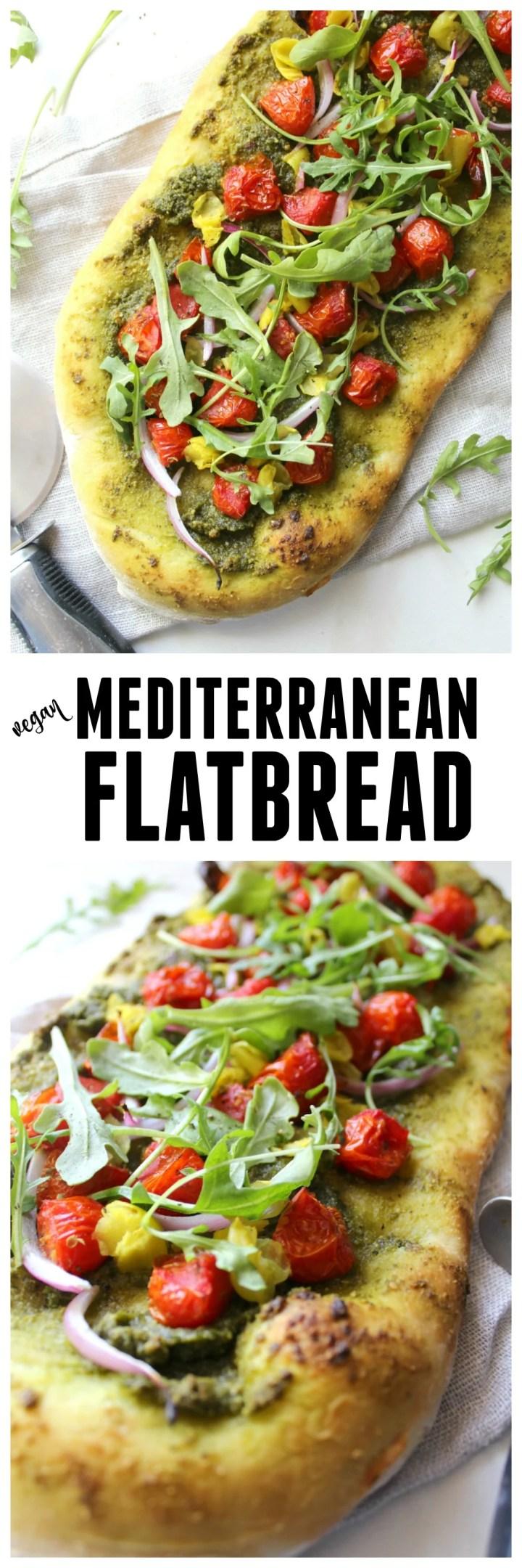 Mediterranean Flatbread | ThisSavoryVegan.com