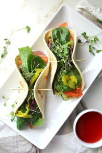 These Grilled Veggie Hummus Wraps are the perfect quick, healthy, vegan lunch | ThisSavoryVegan.com