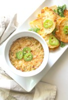 This Creamy Vegan Jalapeño Onion Dip is rich and indulgent. The perfect appetizer for your next get-together or holiday party | ThisSavoryVegan.com