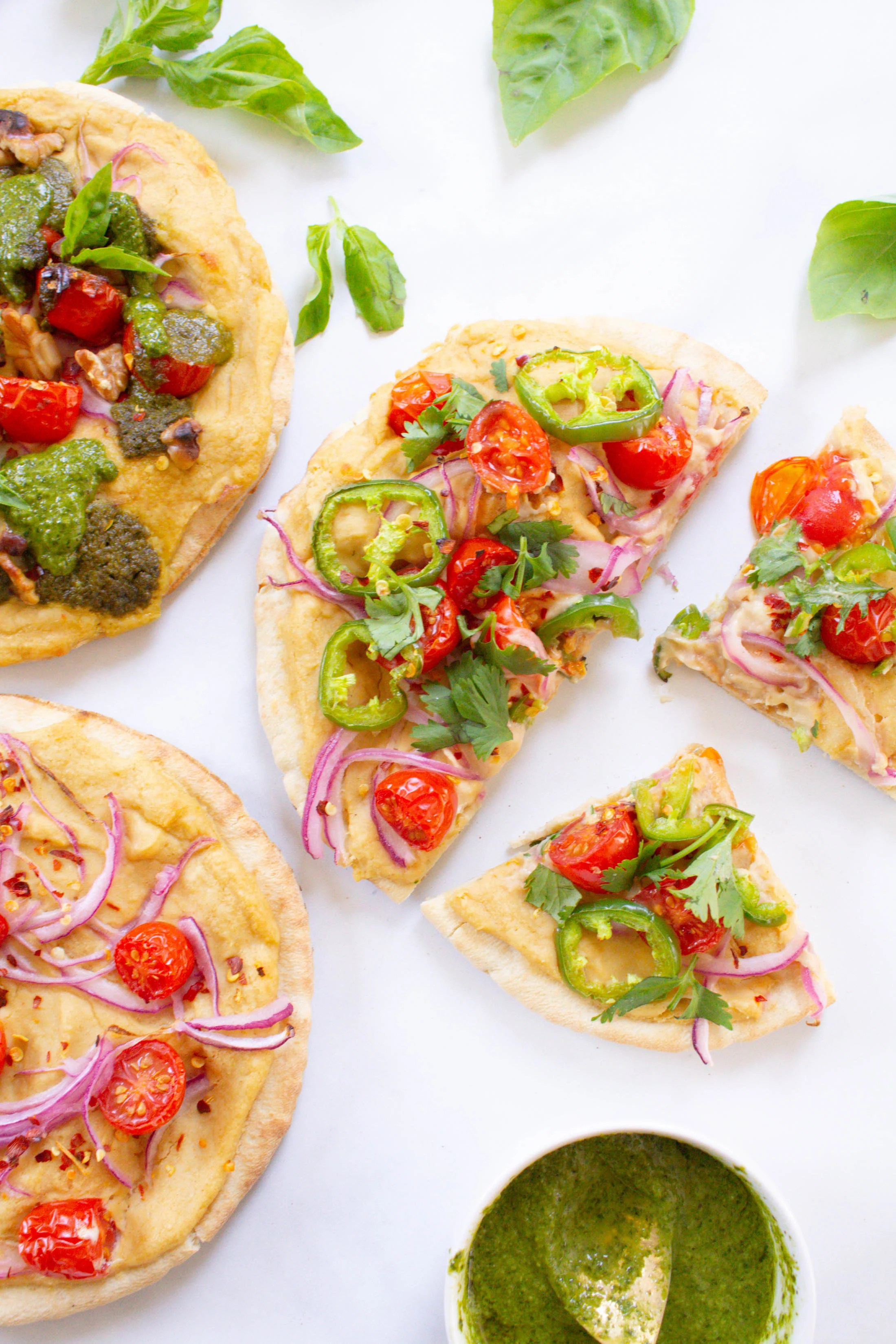 Hummus Pita Pizzas 3 Ways This Savory Vegan