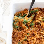 This is literally the BEST Vegan Green Bean Casserole I have ever had. It is comforting, creamy and crunchy all at the same time. Perfect holiday side   ThisSavoryVegan.com #thissavoryvegan #veganthanksgivingrecipes #veganthanksgivingside