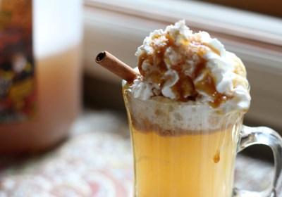 Cinnamon Caramel Apple Hot Toddy
