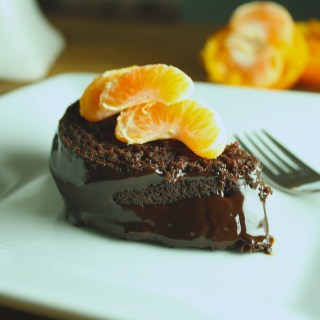 Vegan Chocolate Cake with Citrus Glaze