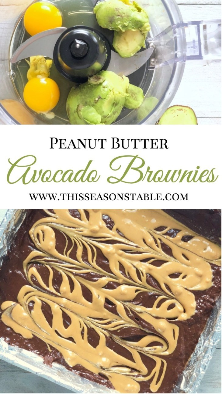 Sneak some nutrients into your dessert this week with these delicious Peanut Butter Avocado Brownies. Shhhh...it will be our little delicious secret! #healthydesserts #avocadodesserts #blogthrowback