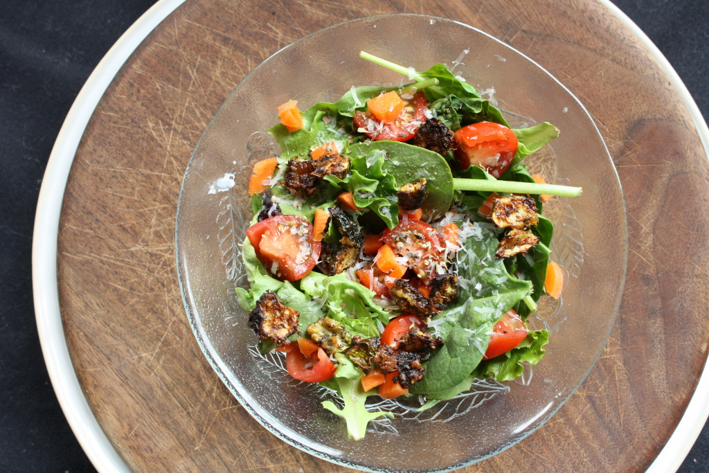 zucchini crouton salad