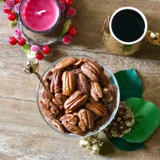 Easy Caramel Coffee Pecans – with FREE Printable Label Template!
