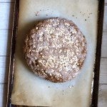 baked brown bread on a pan