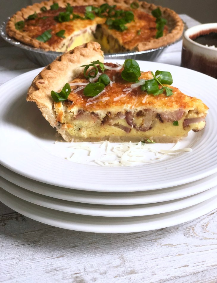 Radish, Spring Onion and Cream Cheese Breakfast Quiche