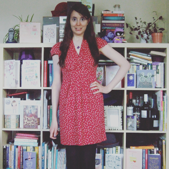 emily and fin, emily and fin elsa, elsa dress, emily and fin dress, emily and fin dot dress, dot dress, pink dress, emily and fin pink, emily and fin pink dress