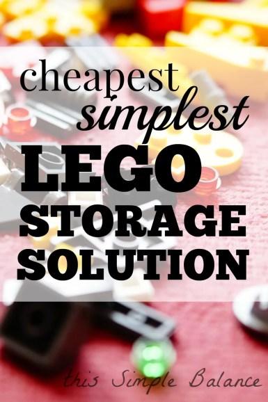 LEGO organization, LEGO storage solution, cheap simple LEGO organizer