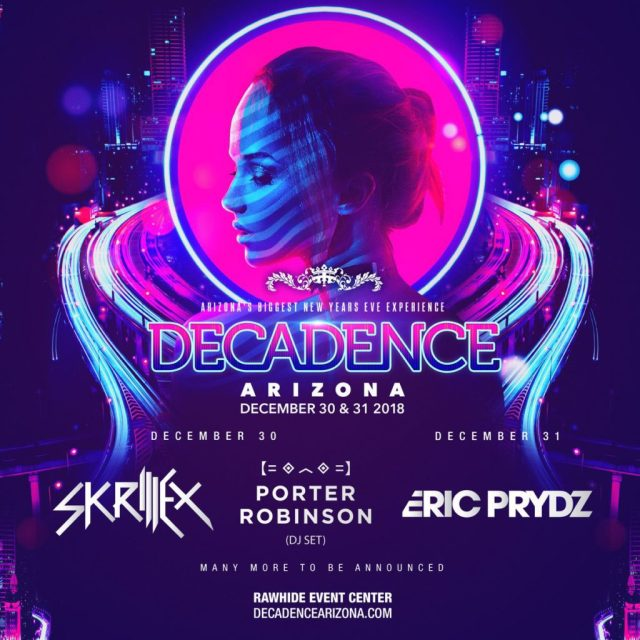 Image result for RELENTLESS BEATS UNLEASHES PHASE ONE LINEUP FOR DECADENCE ARIZONA, DECEMBER 30 & 31, 2018