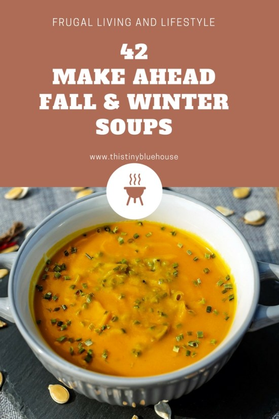 42 Cheap and Easy Fall & Winter Soups that are perfect for make-a-head freezer meals. Frugal Living | Frugal Food | Meal Planing | Soups | Hearty Soups | Freezer Meals |