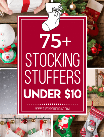 Here is a huge collection of stocking stuffer ideas under $10 for the whole family. Stick to your holiday budget this year without spending a fortune! #StockingStuffers #StockingStuffersForMen #StockingStuffersForTeens #StockingStufferForAdults #StockingStuffersBest #StockingStufferIdeas #StockingStufferIdeasCheap