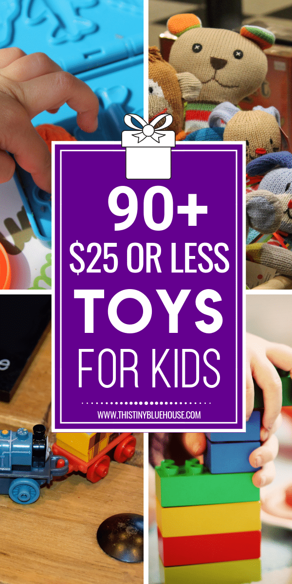 90+ 25$ or Less Christmas Gift Ideas for Kids of All Ages #Christmas #Christmas2017 #ChristmasGifts #holidayshopping #kidspresents #giftsforkids #toys #cheapgifts #frugalgifts #frugalholidayshopping