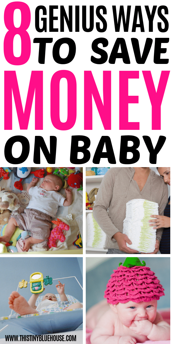 Babies don't have to be expensive! Here are 8 genius savvy tips to budget for baby without going broke! By using a little frugal savvy you can stay on budget and out of debt in anticipation of your new little bundle! #budgetforbaby #savingmoneyonbaby #waystosavemoney #waystosavemoneynewmom #newmom