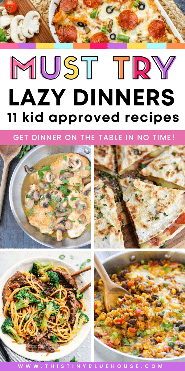 Get dinner on the table in a flash with these super easy and epically delicious lazy mom supper ideas. These kid approved lazy mom dinner recipes are perfect for getting dinner ready in a flash. #easydinnerrecipes #lazymomdinners #simpledinnerideas #easysupperrecipes #simplesupperrecipes #besteasydinnerrecipes #fastdinners #30minutesupperrecipes #kidapproveddinnerideas #30minutedinners