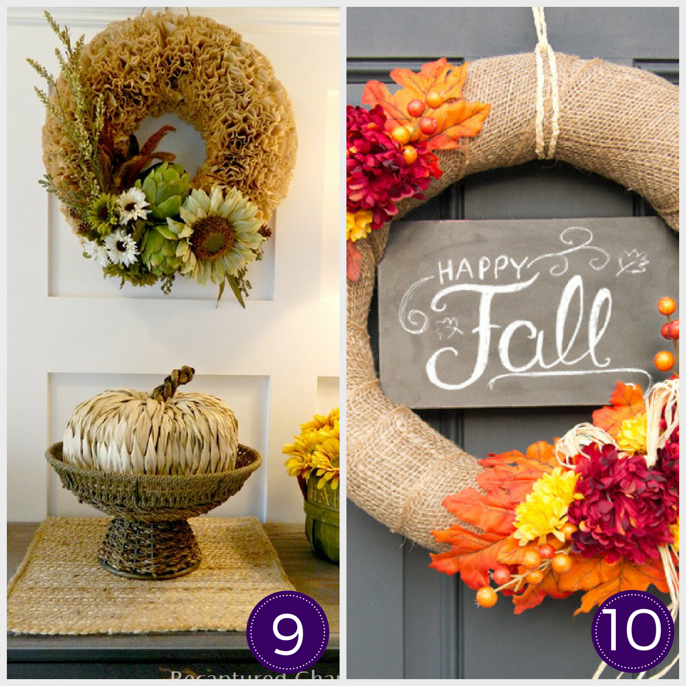 Looking to decorate your home for fall on a budget? Here are 30+ DIY fall decor ideas that you can put together with basic items from the dollar store. #falldecor #dollarstorefalldecor #diyfalldecor #cheapfalldecor #falldecorideas #falldecortips #autumndecor #cheapautumndeocor #fallporchideas #fallwreathideas #diyfallwreaths #diyautumnwreaths