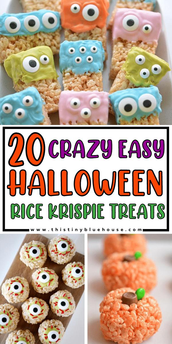 20 Crazy easy Halloween Rice Krispie Treats