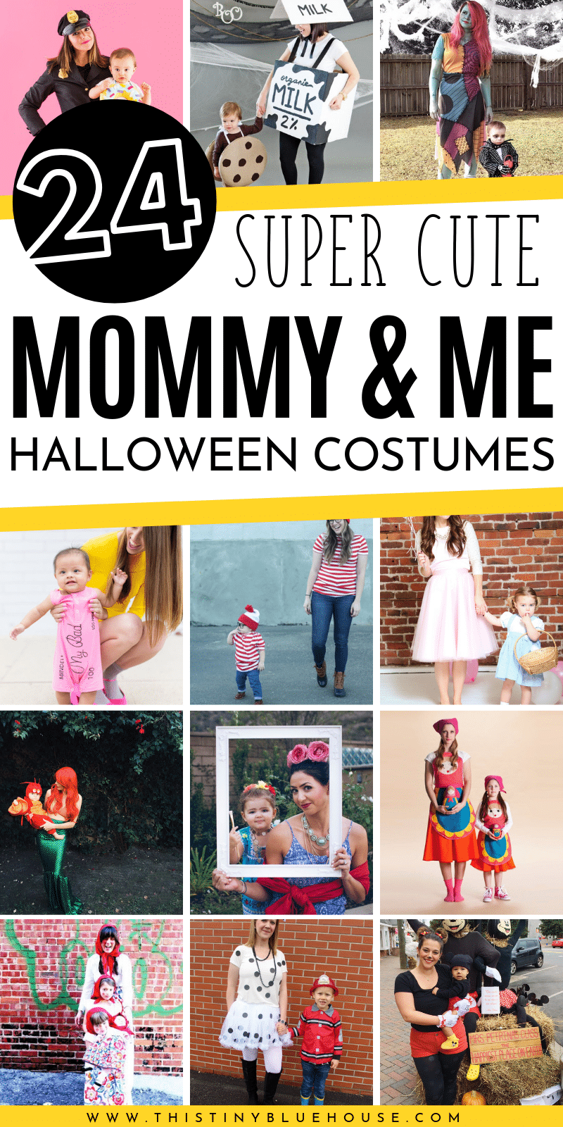 Make Halloween extra special this year with these fabulous mommy and me halloween costumes! Fun creative and absolutely adorable! #halloweencostumes #mommyandmecostumes #mommyandmehalloweencostumes #mommyandmecostumeideas #mommyandmecostumeinspiration