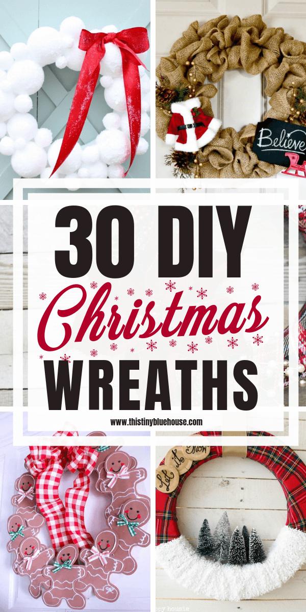 30 Gorgeous Diy Dollar Store Christmas Wreath Ideas This Tiny Blue