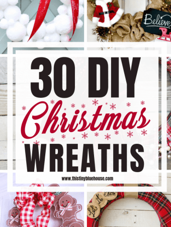 30 Gorgeous DIY Dollar Store Christmas Wreath Ideas