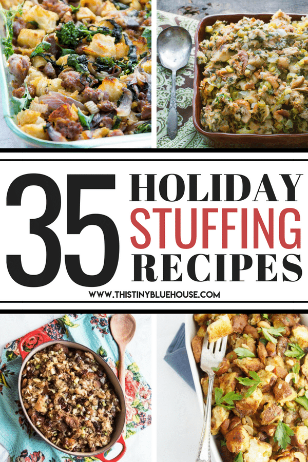 30+ delicious best Thanksgiving stuffing recipes that will make the perfect side-dish to your roast turkey dinner and really wow your guests. #thanksgivingstuffing #thanksgivingstuffingtraditional #thanksgivingstuffingwithsausage #thanksgivingstuffingeasy #thanksgivingstuffingchristmasdinner #thanksgivingstuffingrecipes #thanksgivingstuffingbest #thanksgivingstuffinghomemade #thanksgivingstuffingcasserole #thanksgivingdressingrecipes