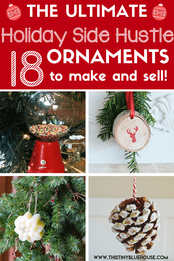 The Holidays are up on us! Here are 18 gorgeous and unique DIY Christmas Ornaments To Make and Sell This Christmas. #DIYChristmasOrnaments #DIYChristmasOrnamentsideas #DIYChristmasOrnamentsToSell #DIYChristmasOrnamentsToSellTutorials